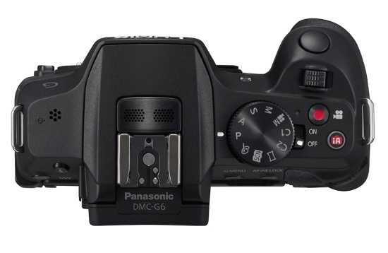 Panasonic LUMIX DMC-G6 Micro43 Mirrorless Camera top