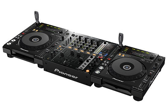 Pioneer DJM-750 4-channel Digital DJ Mixer combined