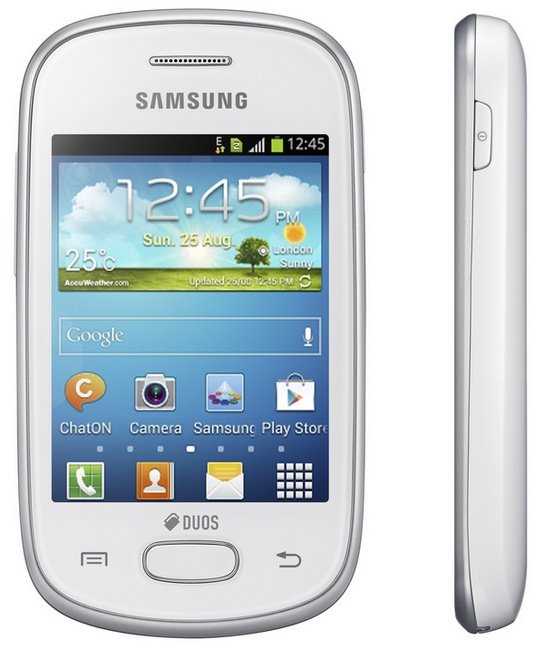 Samsung Galaxy Star Dual SIM Android phone white