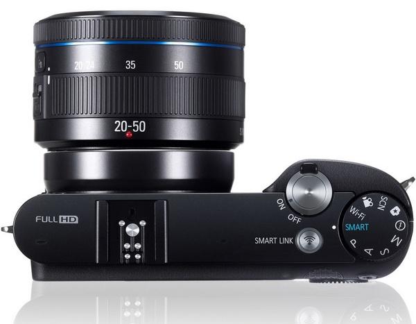 Samsung NX1100 Mirrorless Smart Camera top