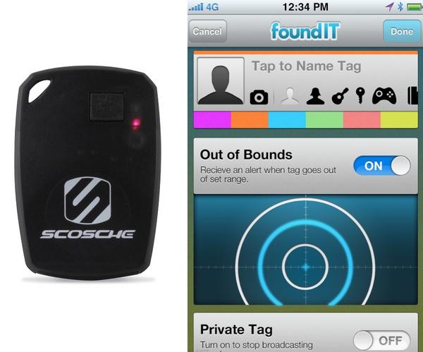 Scosche foundIT Wireless Item Locator app