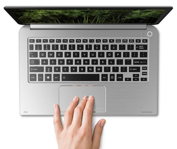 Toshiba KIRAbook Premium Ultrabook with 13.3-inch PixelPure touchpad