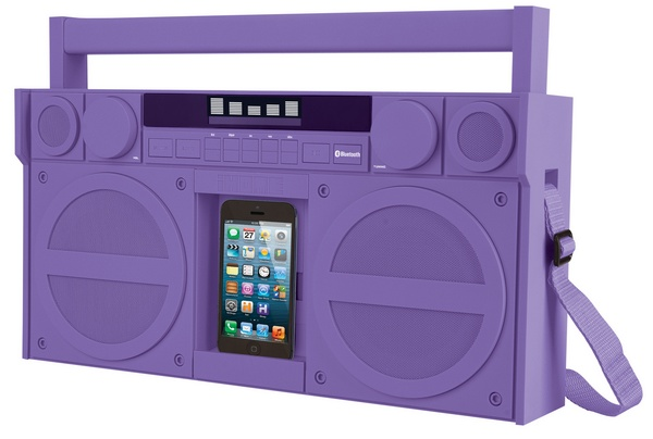 iHome iBT44 Bluetooth Portable FM Stereo Boombox with USB Charging