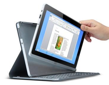 Acer Aspire P3 Ultrabook Convertible detach