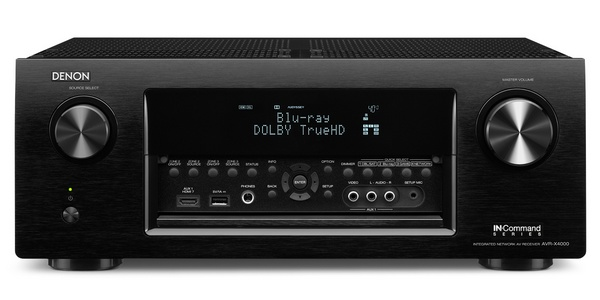 Denon AVR-X4000 7.2-channel Network Receiver front panel inputs