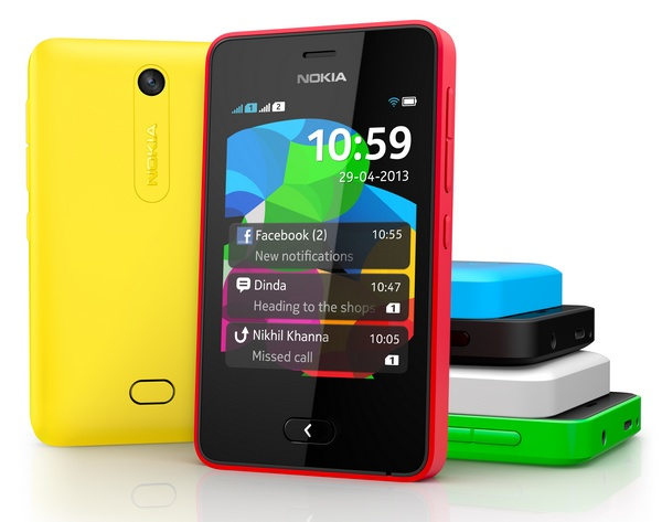 Nokia Asha 501 Feature Phone runs on Asha Platform colors