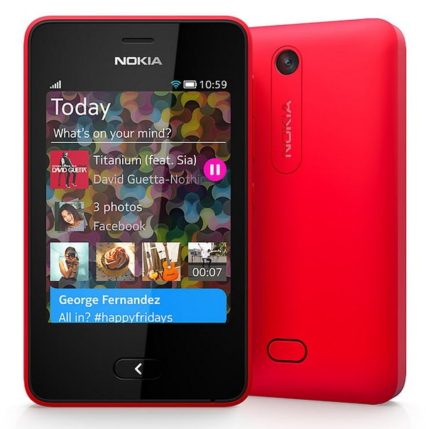 Nokia Asha 501 Feature Phone runs on Asha Platform red