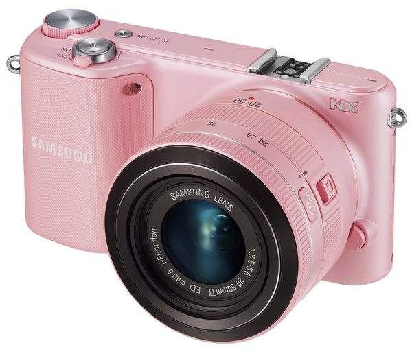 Samsung NX2000 SMART Mirrorless Camera wifi nfc pink