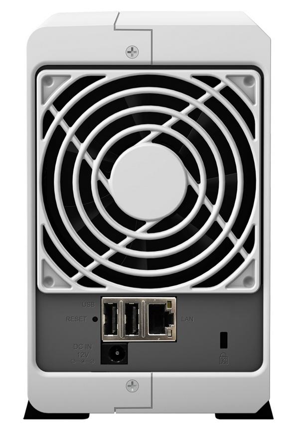 Synology DiskStation DS213j 2-bay NAS Server back