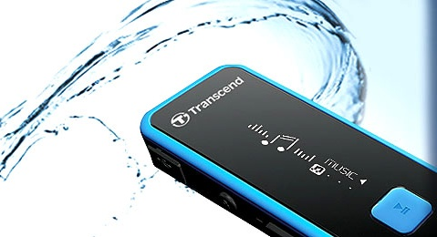 Transcend MP350 Waterproof Portable Music Player water