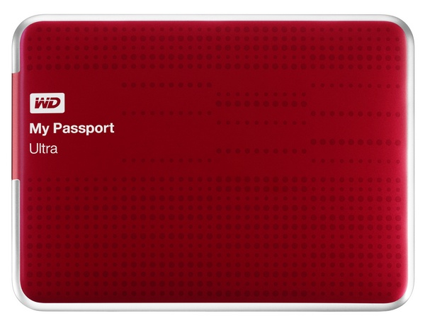 WD My Passport Ultra USB 3.0 Portable Hard Drive red
