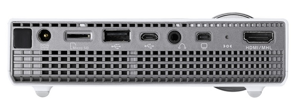 Asus P2B Ultra-compact Projector ports