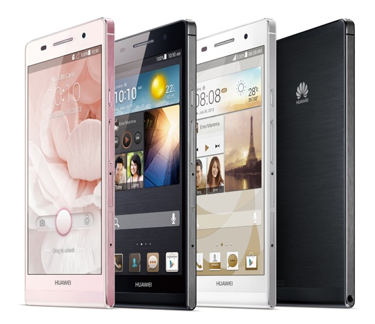 Huawei Ascend P6 ultra slim smartphone colors 1