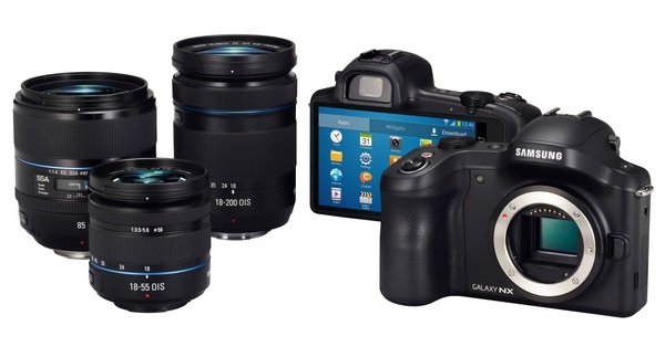 Samsung Galaxy NX Mirrorless Camera with lens