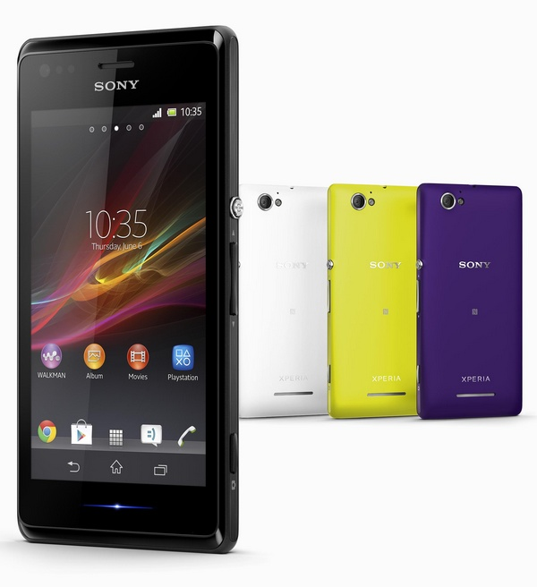 Sony Xperia M and Xperia M Dual Entry-level Smartphones colors 1