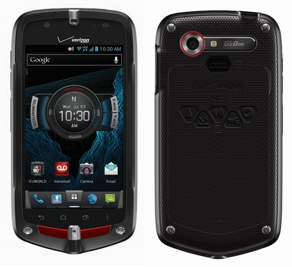 Verizon Casio G'zOne Commando 4G LTE Rugged Smartphone back