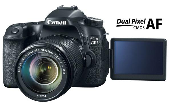 Canon EOS 70D DSLR with Dual Pixel CMOS AF