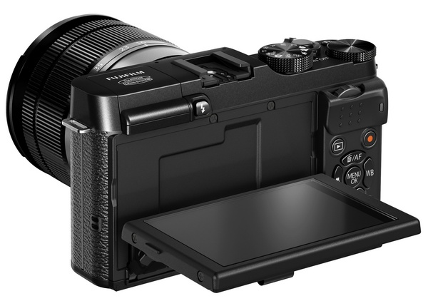 FujiFilm X-M1 Lightweight Mirrorless Camera back tilting display