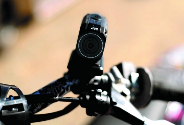 JVC ADIXXION GC-XA2 Quad-proof Action Camera bike