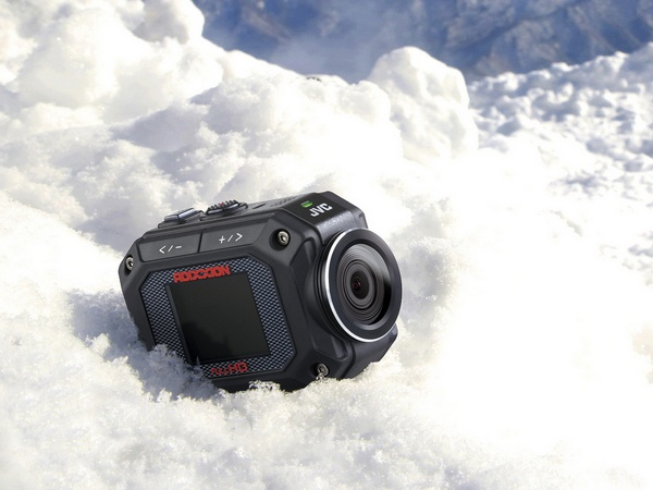 JVC ADIXXION GC-XA2 Quad-proof Action Camera snow