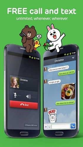 LINE 281x500 - 10 Free Mobile Messaging Apps To Replace SMS