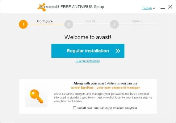 Avast Antivirus 2014 installation
