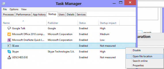 startup msconfig 570x241 - How To Use System Configuration Utility in Windows 8.1 (msconfig)