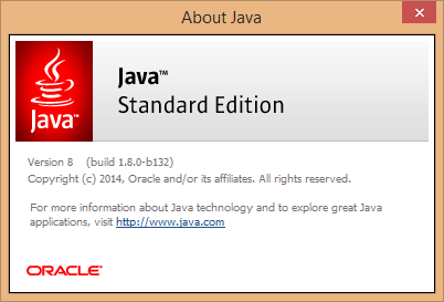 Java download and installation instructions.