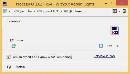ProcessKO - Close/Restart Programs At Once In Windows Using ProcessKO Portable
