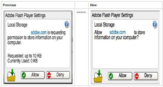 Adobe Flash Player 21 Settings