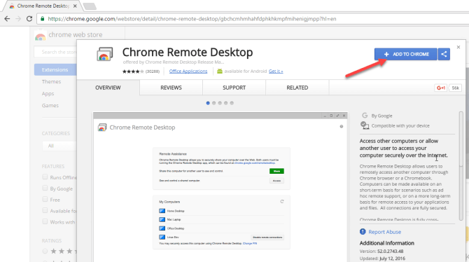 Chrome Remote Desktop as TeamViewer alternative