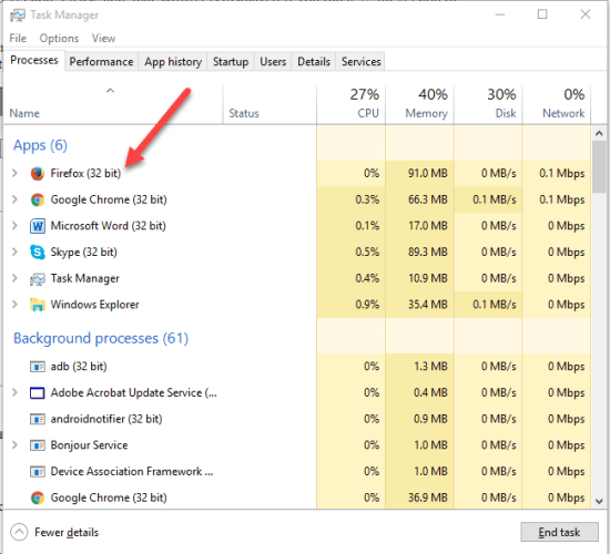 1 7 550x500 - Upgrade from Firefox 32-bit to Firefox 64-bit without Reinstalling