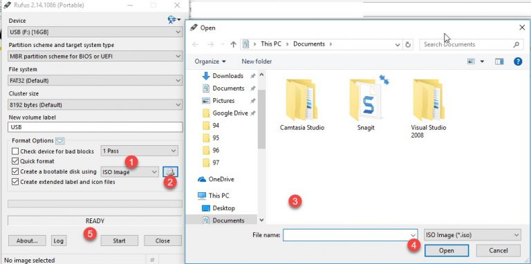 Flash drive usb ophcrack