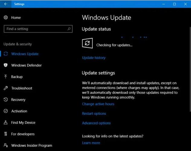 Windows Update updating KB4020102 632x500 - Download Cumulative Update KB4020102 for Windows 10 Creators Update (Version 1703 Build 15063.332)