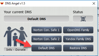 5 - Enable Family Protection In Windows 10 Using DNS Angel