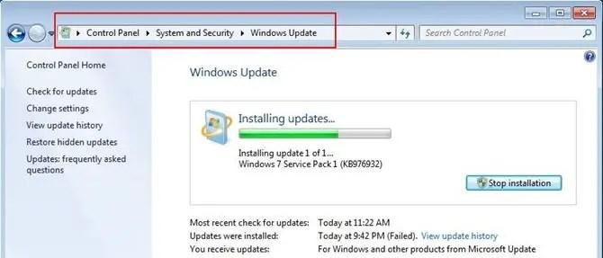 Windows 7 sp1 (kb976932): как скачать и установить ‹ windows 7.