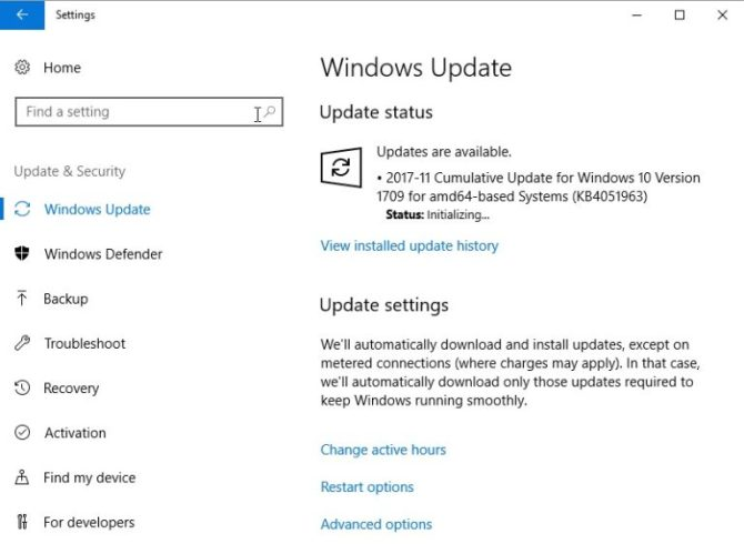 KB4051963 Windows Update