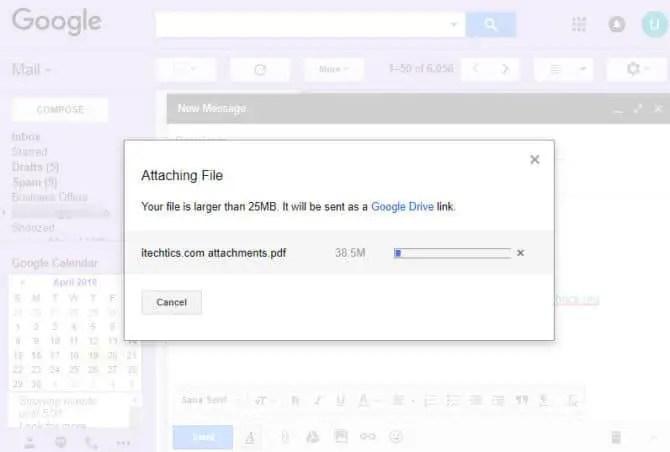 Gmail attachment size limit