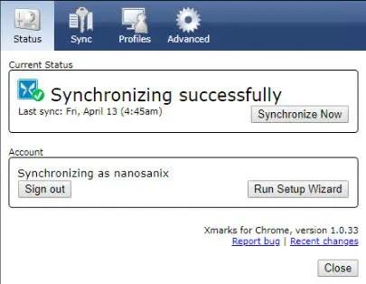 XMarks synchronization