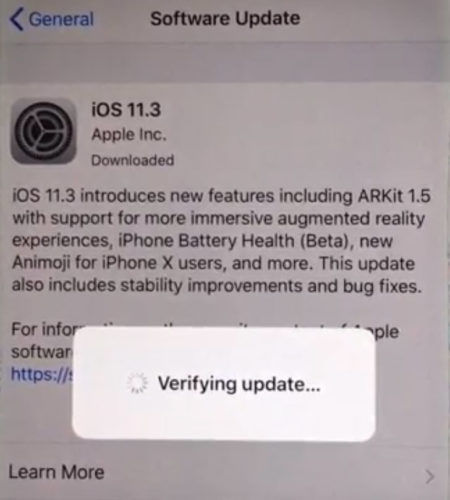iOS 11.3 download