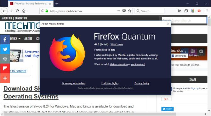 About Firefox 61