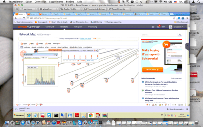 Bandwidth monitoring using Spiceworks