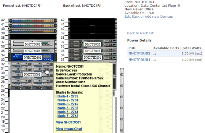 Physical Rack Mapping using Device42