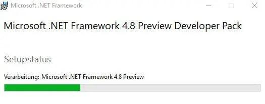 installing NET Framework 4 8 developer pack