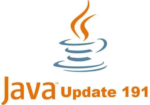 Java 8 Update 191