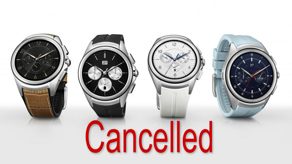 LG Watch Urbane 2 is Cancelled by the company