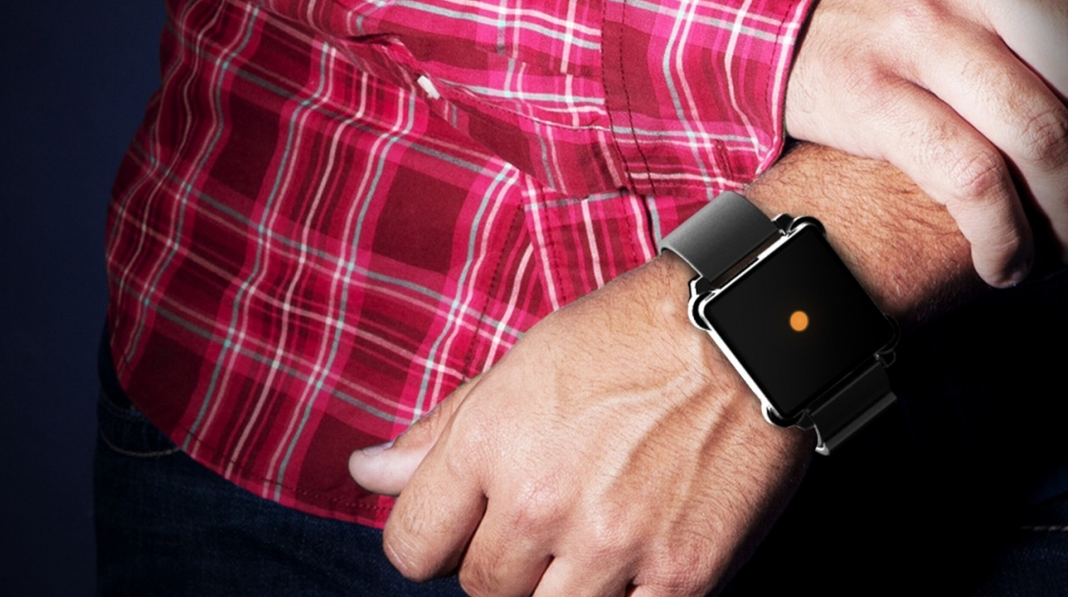 This Anti-Smartwatch wants to give you informations via haptic feedbacks