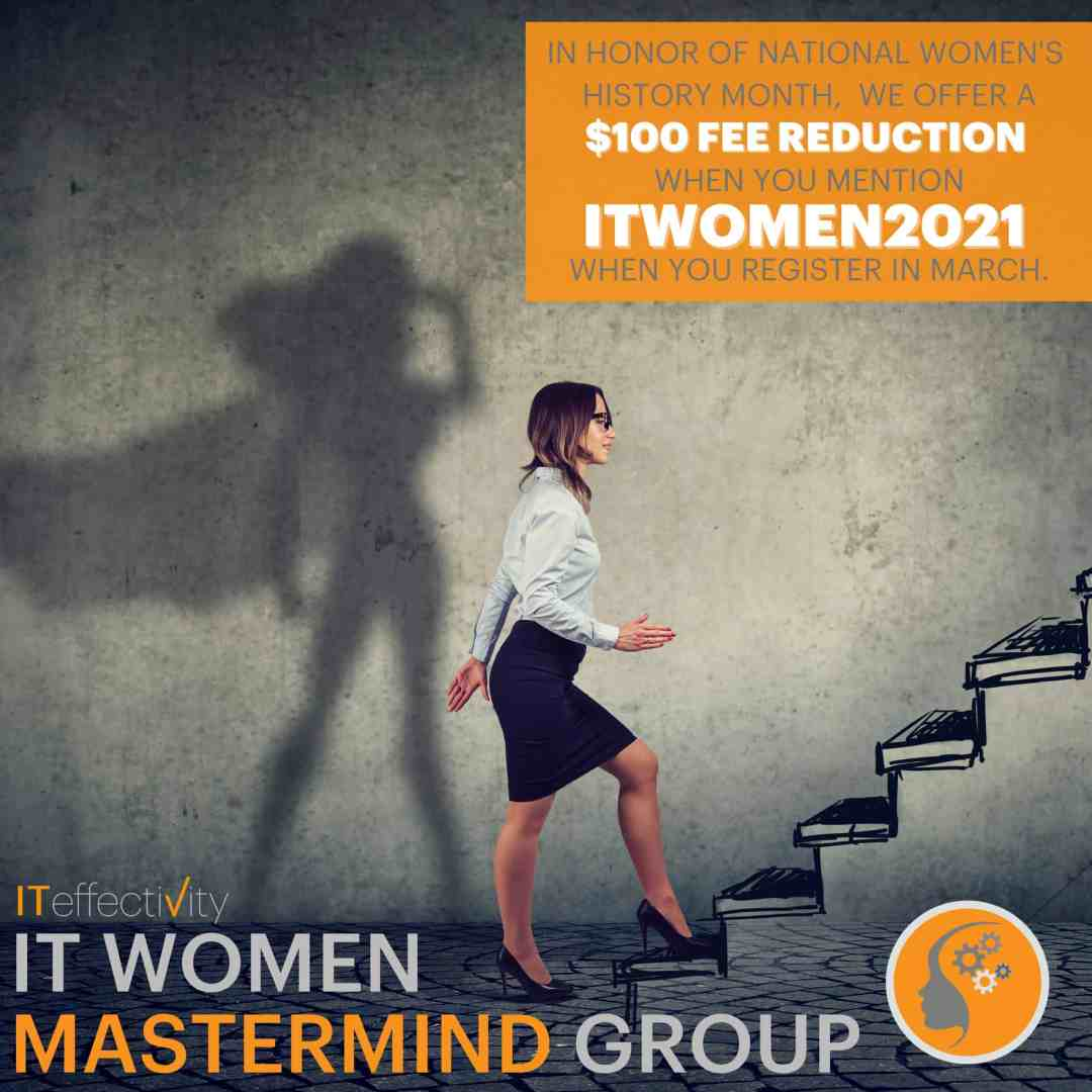 In honor of National Women's History month, we offer a $100 fee reduction when you mention ITWOMEN2021 on your application.