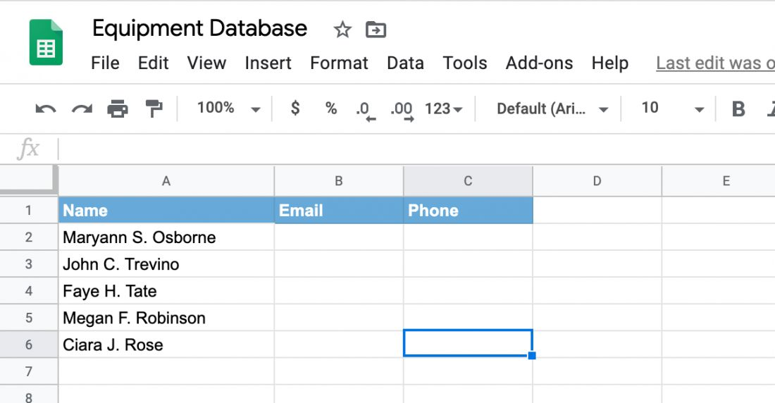 Free asset tracking template for excel by vertex42, fixed asset inventory template management excel tracking 8, 19 excel inventory template google sheets. Free Equipment Inventory Tracking Spreadsheet Template Itefy