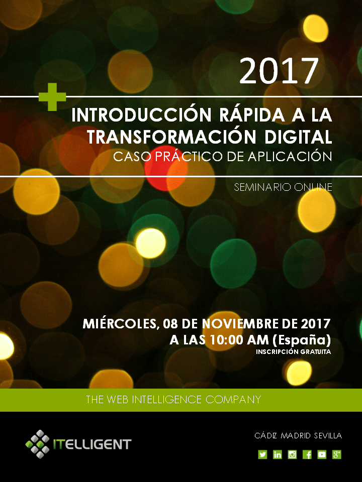 Cartel Webinar ITELLIGENT Transformación Digital